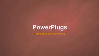 PowerPoint Template - An Abstract Plain Background
